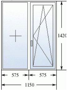 Двухстворчатое окно в 137 серию домов