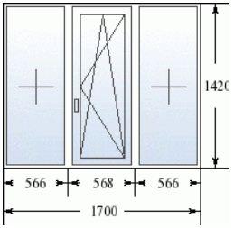 Размеры трехстворчатого окна в домах 137 серии