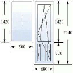 Балконный блок в 137 серии домов