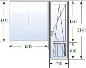 Балконный блок в дом 504 серии