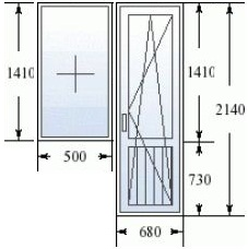 Балконный блок в дом 505 серии
