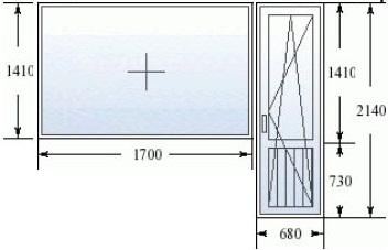 Балконный блок в 505 серии домов с широким окном
