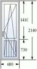 Балконная дверь в 600.11 серии домов