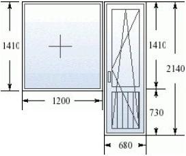 Балконный блок в 600.11 серии домов