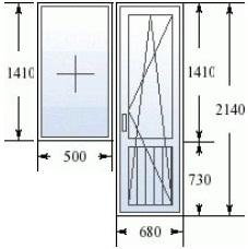 Балконный блок с узким окном в доме 606 серии