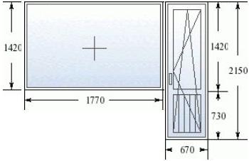 Балконный блок в корабле