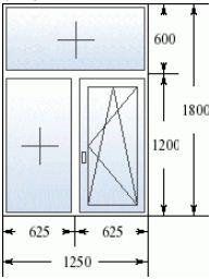 Стандартные размеры двухстворчатого окна в сталинке
