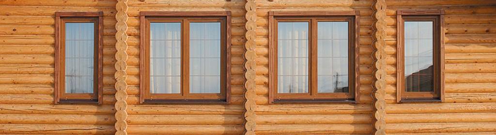 деревянные окна в коттедж