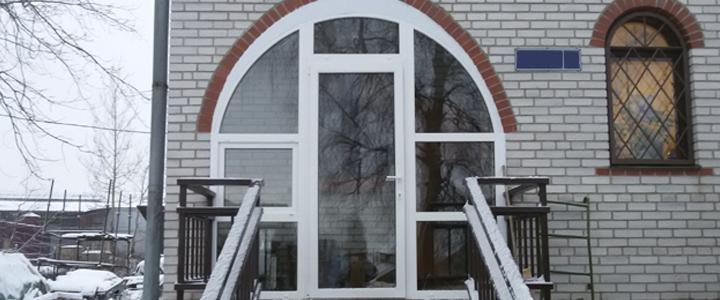 арочная входная дверь ПВХ