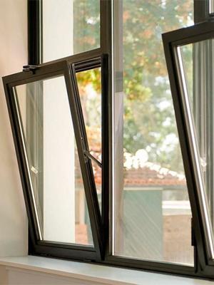 Распашное алюминиевое окно