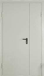 Двухлистовая техническая дверь