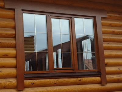 сосновые окна в доме