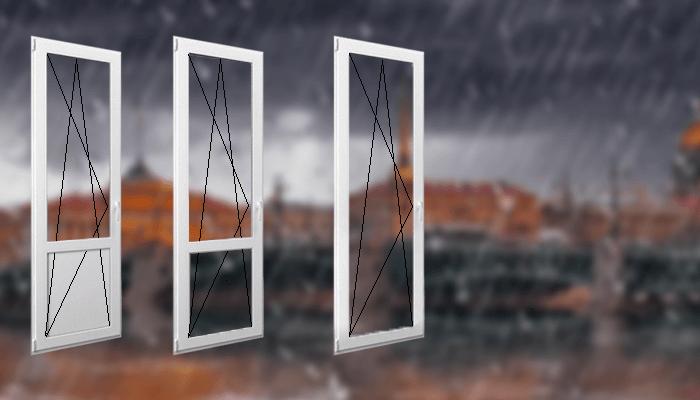 поворотно-откидные двери ПВХ