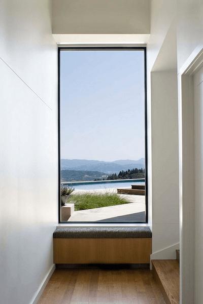 теплое алюминиевое панорамное окно