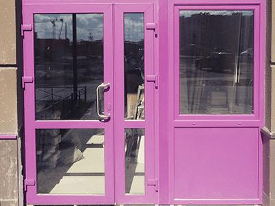 цветная дверь пвх